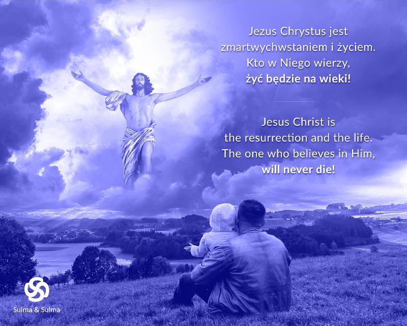 Jezus Chrystus jest zmartwychwstaniem i życiem. Kto w Niego wierzy, żyć będzie na wieki! Szczęśliwych i zdrowych świąt Wielkiej Nocy, Sulma & Sulma